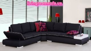 Arizona Black Corner Sofa Great Design For Living Room Design