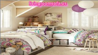 Awesome Colorful 2 Twin Beds Design