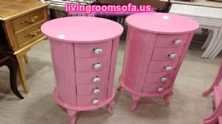 Awesome Pink Bedside Tables Nightstands