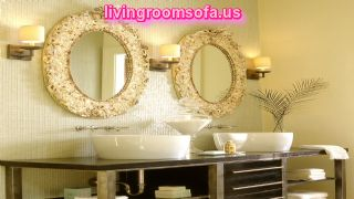 Awesome Nickel Patterned Bathroom Wall Mirrors