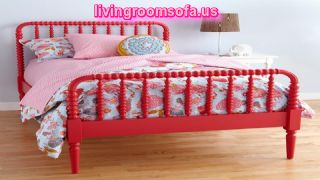 Beautiful Red Bed For Bedroom