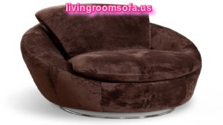 Big Rounded Chair Design For Living Room