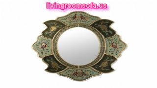 Birds Patterned Antique Wall Mirror