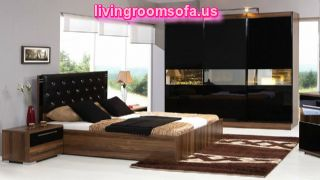 Black Brown Modern Bedroom Bed Sets
