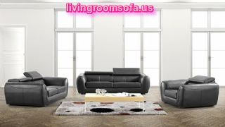 Black Leather Affordable Contemporary Sofas