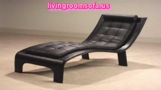 Black Leather Bedroom Chaise Lounge Design