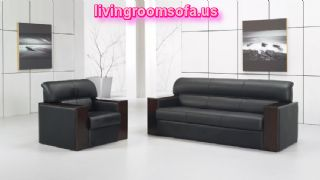 Black Leather Sofas Living Room Chairs Modern Design