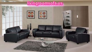 Black Leather Sofas For Living Room Decoration Ideas