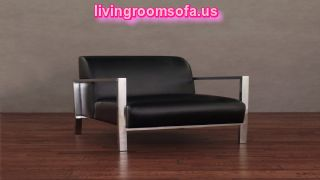 Black Leather Accent Chair For Living Room Design
