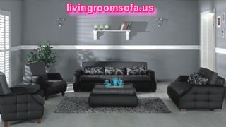Black Sofa Set Design Living Room Decoration