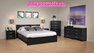 Black And Beautiful Cheap Bedroom Furniture Design Ideas