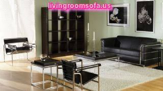 Black Chairs Sofas Table For Living Room Furniture