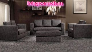 Black Dark Gray Living Room Sofa Set