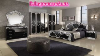 Black Italy Classic Bedrooms Design Ideas