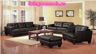Black Sofa Set For Living Room Furniture