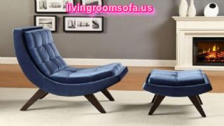 Blue Contemporary Chaise Lounge Chairs For Bedroom
