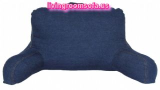 Blue Jean Bed Pillows With Arms