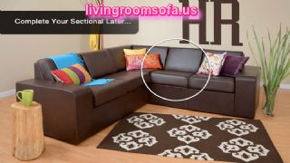 Brown Leather Corner Loveseats