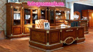 Brown Classic Contemporary Italian Office Furniture