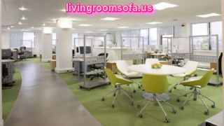 Business Office Green White Interior Decorating