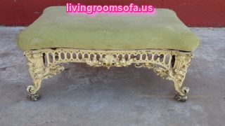 Carved Metal Antique Settee Bench