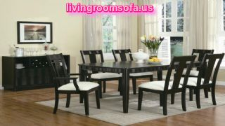 Casual Dining Room Furniture Set Black