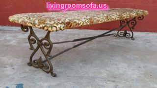 Classic Antique Settee Bench Metal
