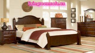 Classic Brown Bedroom Bed Set Queen