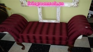 Classic Decorative Bedroom Settee Bench
