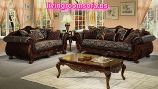 Classic Elegant Living Room Furniture Sets