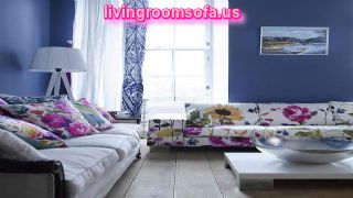 Colorful Blue Accent Pieces For Living Room