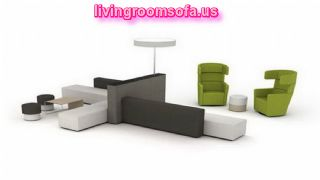 Contemporary Office Furniture And Black,white And Green Office Style