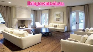 Contemporary Sofas And Chairs And White Leather Sofas In Livingroom
