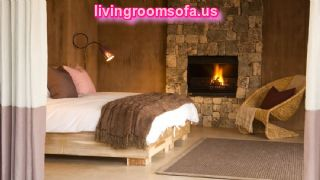 Contemporary Sofas And Chairs For Bedroom,bedroom Has Got Fire Place For Decoration