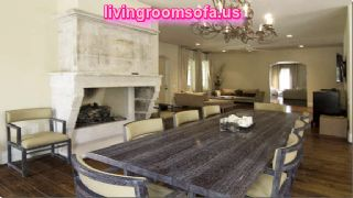 Contemporary Sofas And Chairs In Diningroom