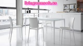 Contemporary Sofas And Chairs,white And Table With Chairs In Kitchen