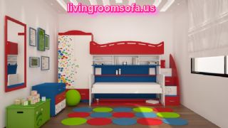 Cool Bunk Beds With Storage For Kids Bedroom,colorful Different Style Cool Bunk Beds With Storage