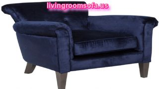 Dark Blue Modern Chairs For Living Room