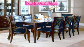 Dark Blue And Brown Contemporary Dining Room Tables