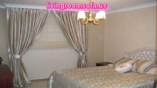 Decorative Gray Bedroom Curtain Idea