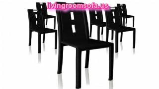 Decorative Leather Black Chaises Design Ideas