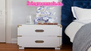 Decorative White Bedside Tables Nightstands