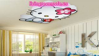 Decorative Hello Kitty Cat Children Ceiling Light Kids Living Room
