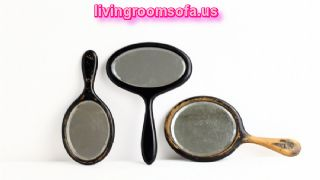 Excellent Antique Makeup Hand Mirrors