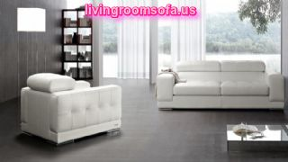 Excellent White Modern Contemporary Leather Sofas Italian