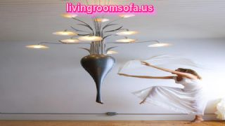Flower Style Big Living Room Lamps