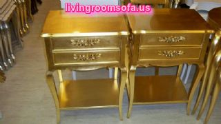 Golden Yellow Bedside Tables Nightstands Design