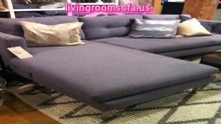 Gray Apartment Size Sectional Sofa