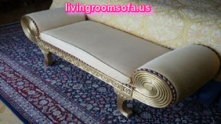 Gray Fabric Bedroom Settee Bench Design