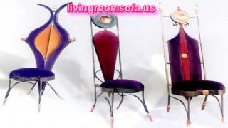 Gray Orange Purple Pink Different Chaises Design Ideas